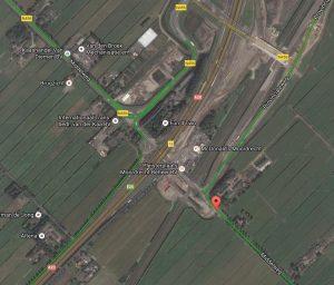 Het rode pijltje is de plek waar Voz is weggelopen. De vraag is welke kant.