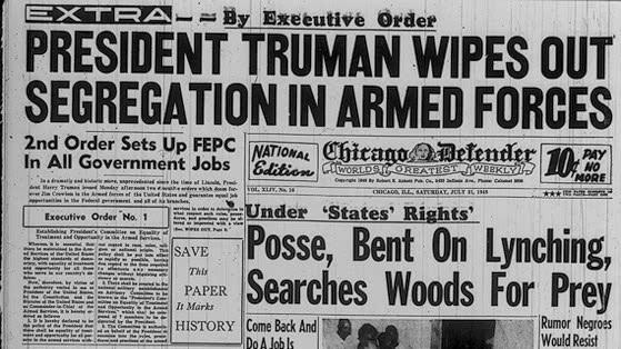 Truman Orders Armed Forces Desegregation