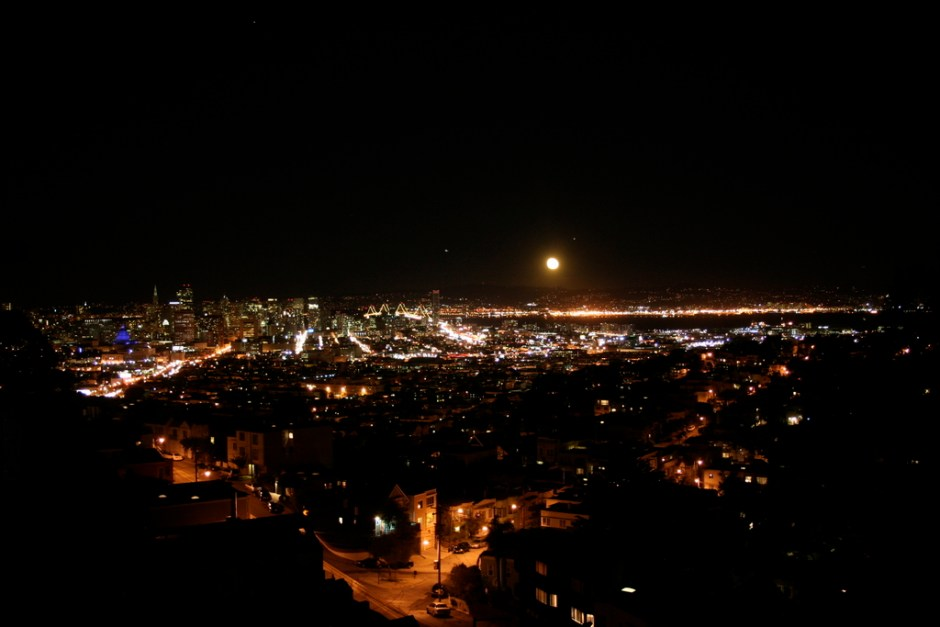 Nighttime View from Market St House