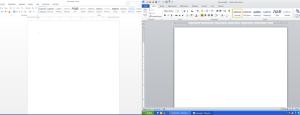 screenshots of MS Word showing poor contrast
