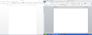 screenshots of MS Word showing poor contrast