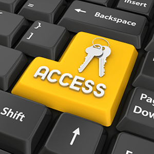 """Words """"access"""" on a computer keyboard"""