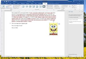 Screenshot of MS Word showing new ALT description detail
