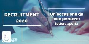 Fall Recruitment JECoMM 2020: un'occasione da non perdere.