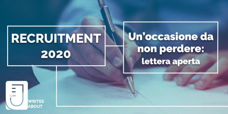 Read more about the article Fall Recruitment JECoMM 2020: un'occasione da non perdere.