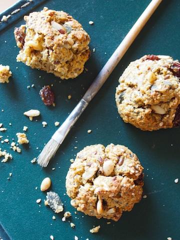 biscuits sans gluten aux graines, raisins et flocons de riz