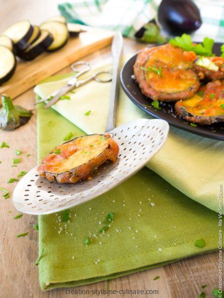 Beignets d'aubergine sans œufs et sans gluten