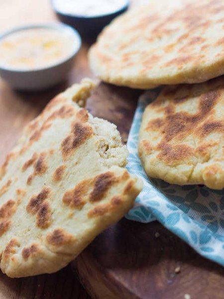 pain sans gluten facon naan