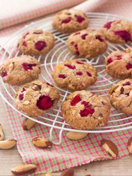 Cookies sans gluten à la framboise