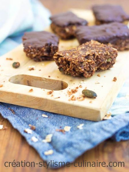 barres de céréales sans gluten au chocolat