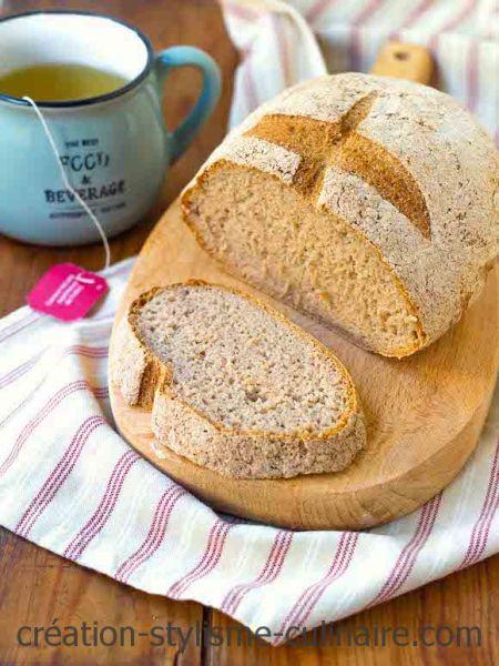 Pain sans gluten au sarrasin et à la levure fraîche (sans oeuf)