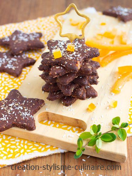 biscuits de noel sans gluten écorces d'orange