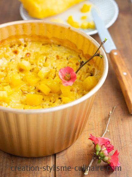 gateau de semoule de millet ananas