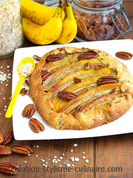tarte rustique sans gluten banane