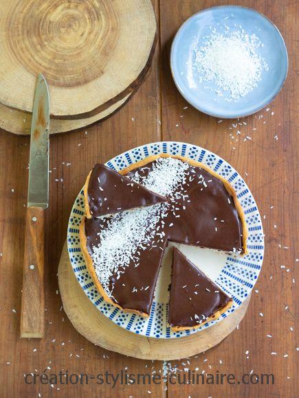 Tarte au chocolat coco bounty