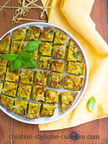 Frittata de courgette ail persil