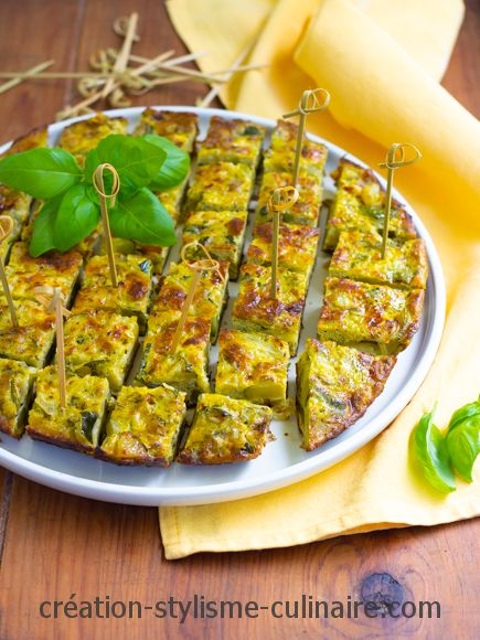 Frittata de courgette ail et persil