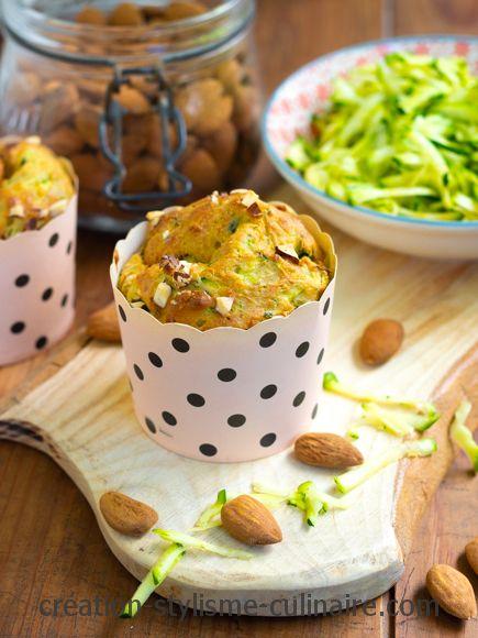 Muffins courgette amande citron
