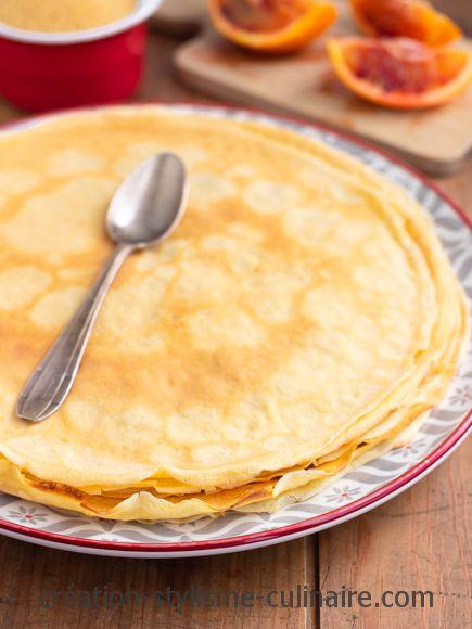 Crêpes sucrées sans gluten à la fleur d'oranger