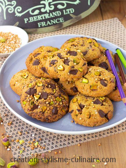 cookies sans gluten pistache sarrasin choco
