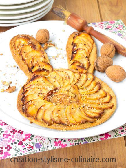 tarte aux pommes sans gluten de Paques