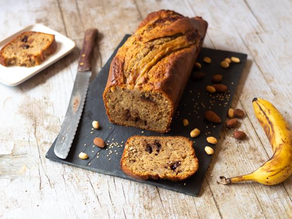 banana bread sans gluten aux pépites de chocolat