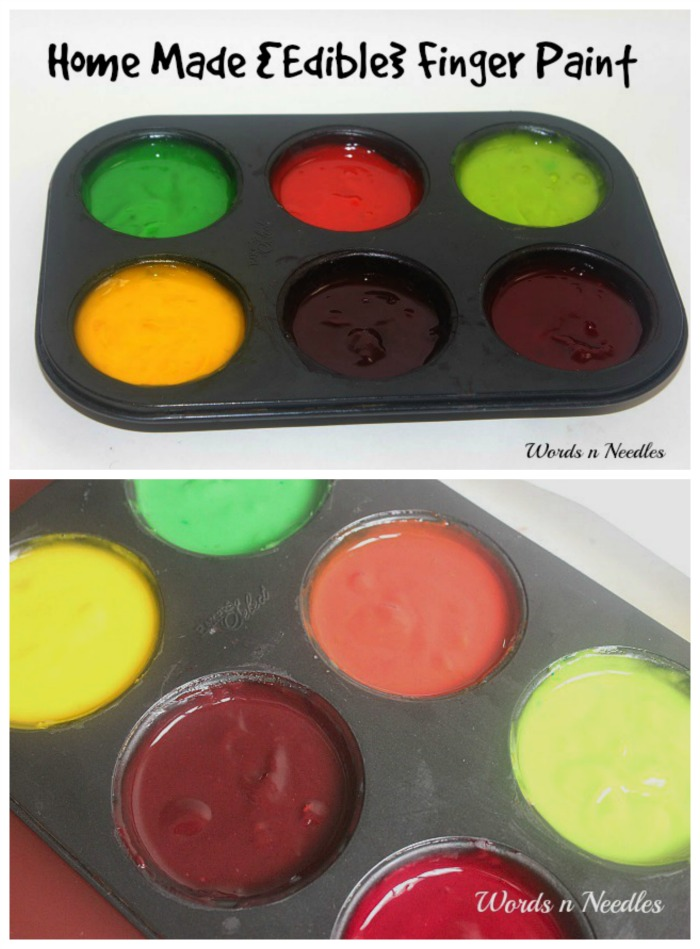 easy home made edible finger paint recipe toddler safe