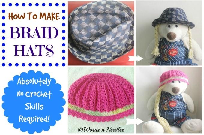 no crochet braid hats