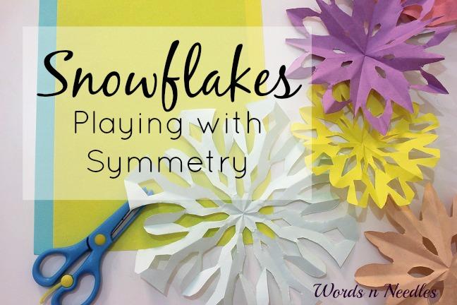 symmetry snowflakes scissor skills