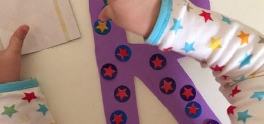 foam letters stars toddler activity