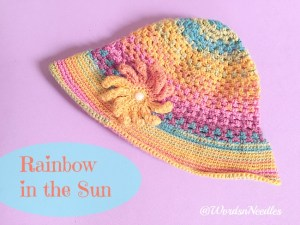 rainbow in the sun cloche hat pattern wordsnneedles