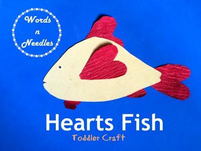 Make a Fish Craft Using Crepe Paper Hearts