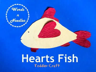Make a Fish Craft Using Crepe Paper Hearts