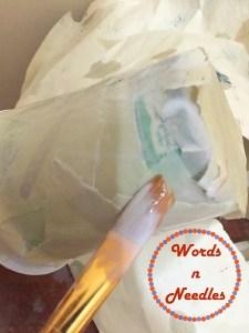 paper mache activity wordsnneedles