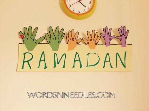 Hand Print Ramadan Calendar For Kids