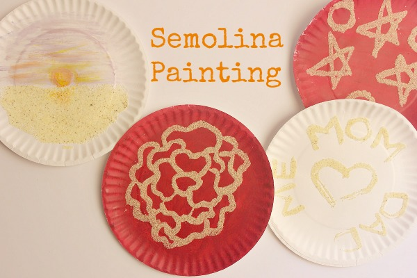 Semolina Painting for Kids