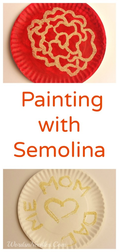 semolina painting process art kids wordsnneedles