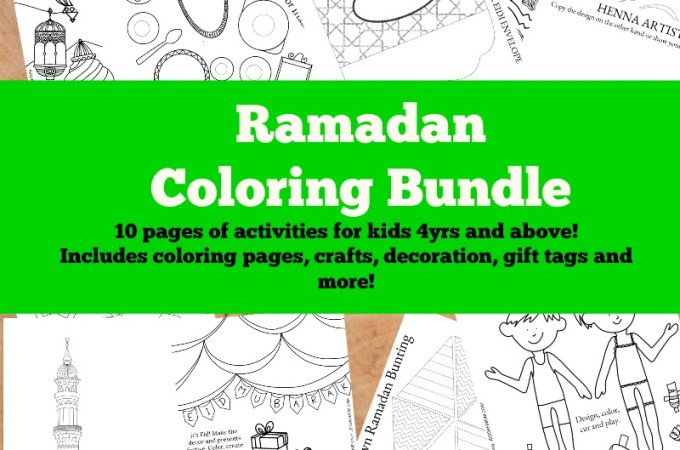 Ramadan Activities Printable Coloring Bundle