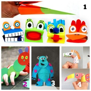 finger puppet patterns with paper