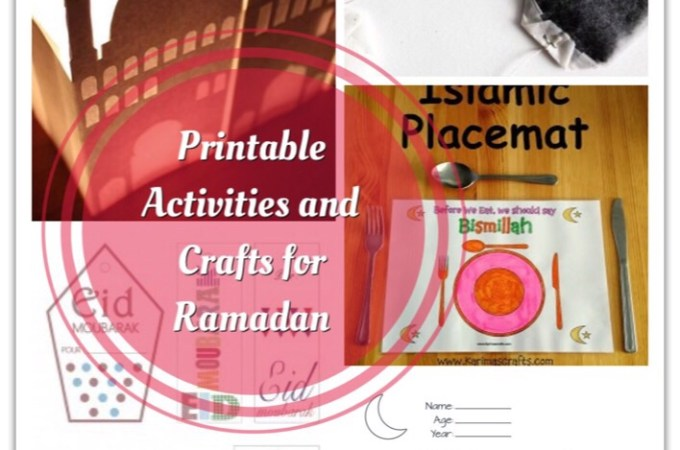Printable Activities and Crafts For Ramadan