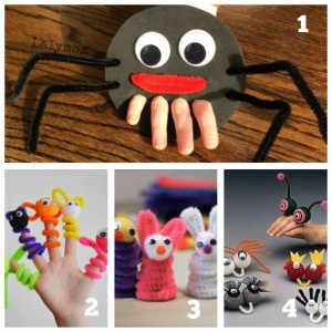 finger puppets using pipe cleaners preschoolers toddlers story time