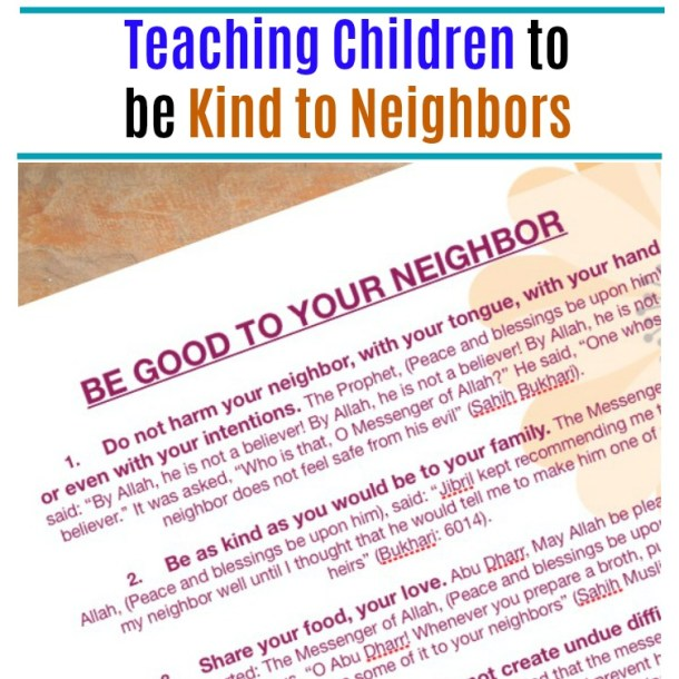 Teaching Children Rights of Neighbours in Islam - Akhlaaq