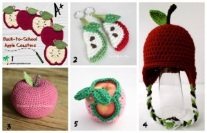 crochet back to school fall apple theme teens tweens