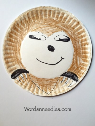 paper plate sloth toddler preschool craft rainforest