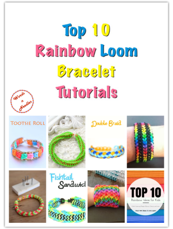 top ten rainbow loom band bracelet ideas tutorials crafts kids rubber bands