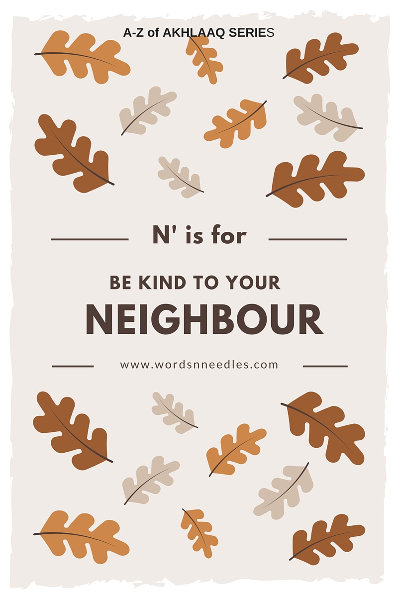 be kind to your neighbour rights