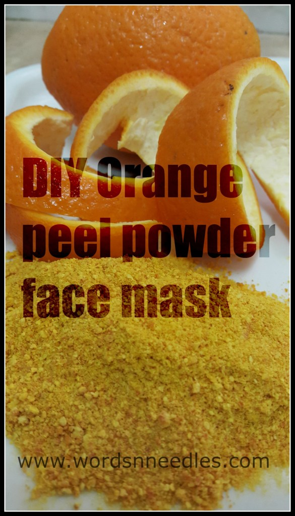 diy orange peel powder face mask 1