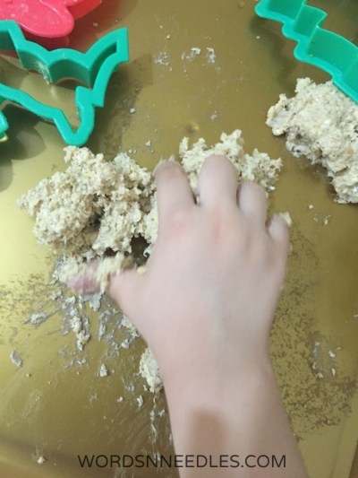 squishy sensory play dough that is edible safe and healthy for toddlers