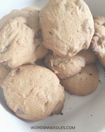 cookies chocolate chips Wordsnneedles