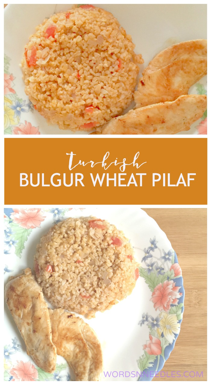 Turkish Bulgur Wheat Pilaf Recipe Anatolian cuisine Kid friendly food suitable for toddlers. Side dish for Kebabs and steaks or any grilled meats